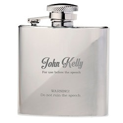 Best Man The Speech Hip Flask