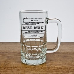 Personalised Comic Best Man Tankard