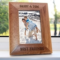 Daddy My Best Friend Engraved Photo Frame