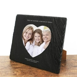 First My Mother Forever My Friend Heart Slate Photo Frame