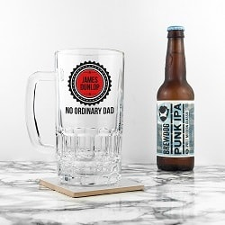 No Ordinary Dad Beer Glass Tankard