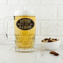 Oval Design Beer Glass Tankard