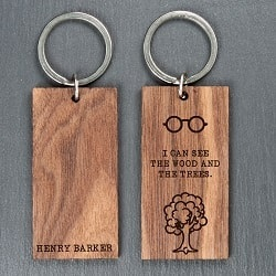 Personalised See the wood and the trees Keyring