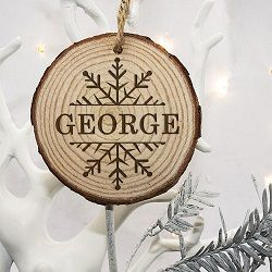 Personalised Engraved Snow Flake Christmas Tree Decoration