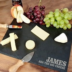 Personalised-Rustic-Slate-Cheese-Board
