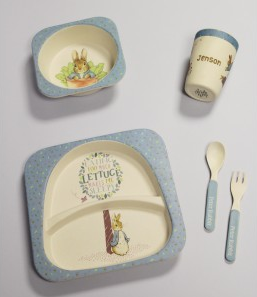 Personalised-Peter-Rabbit-Bamboo-Breakfast-Set