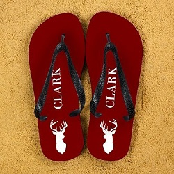 Have fun on your Stag Night with these Personalised Stag Design Flip Flops.