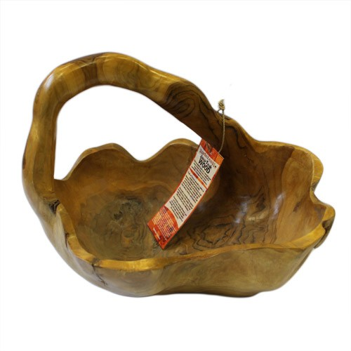 Teak Root Basket Approx 30cm