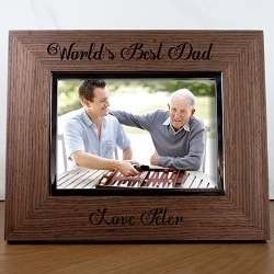 Personalised Dad Photo Frame