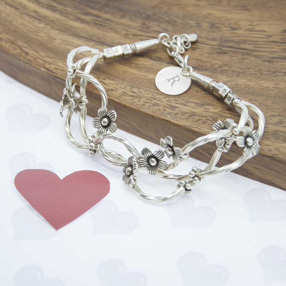 Fine Silver Forget Me Knot Silver Bracelet