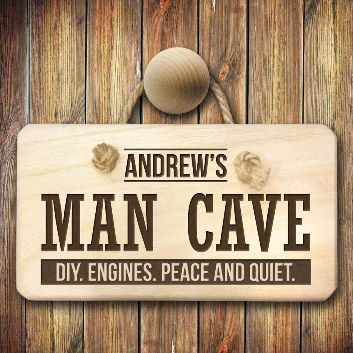 Personalised MAN CAVE Wooden Sign